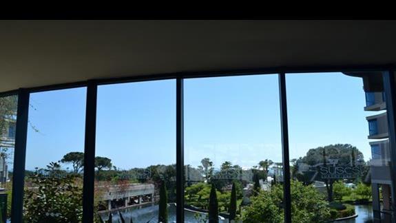 Widok z holu hotelowego