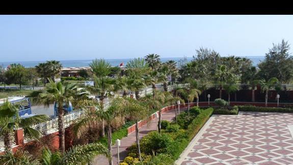 Widok z balkonu pokojowego