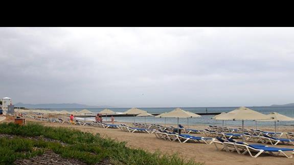 plaża w hotelu Lyttos Beach