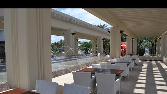Zewnętrzna część lobby w hotelu Otium Seven Seas