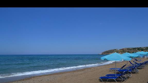 Plaża przy hotelu Rethymno Mare