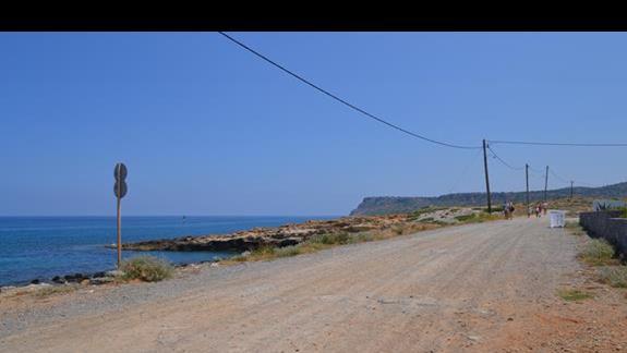 Dojście do plaży hotelu Sissi Bay