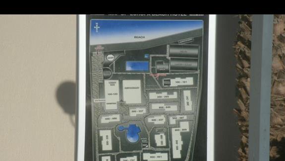 mapka budynków hotelowych