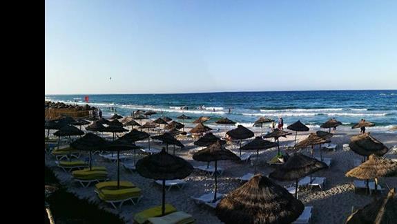 panorama plaży hotelowej
