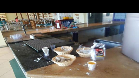 Zestaw kawowy w restauracji glównej :)