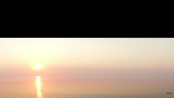 Wschód słońca widok z pokoju