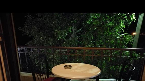 Balkonik w pokoju, nie każdy go miał. Mieliśmy szczęscie