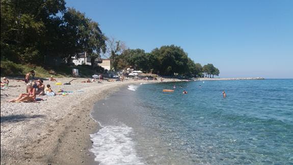 część plaży na miejscu