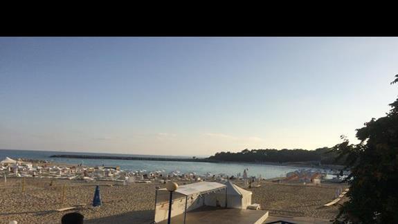 Widok na początek plaży