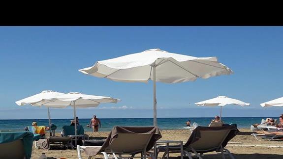 Parasole i leżaki na plaży