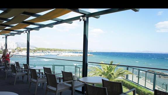 Widok z hotelowej restauracji