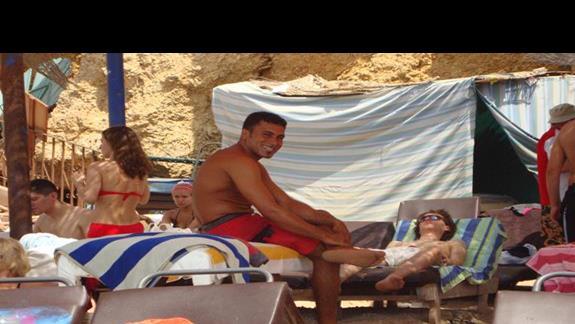 plaża , masażysta