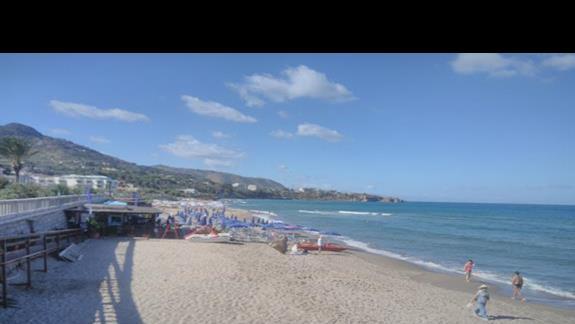 plaża przy miasteczku