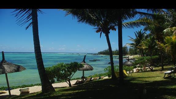 Ocean Indyjski widok z bungalowu