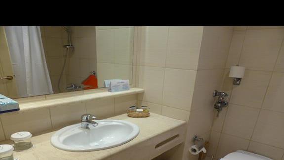 Łazienka  hotelu Creta Star