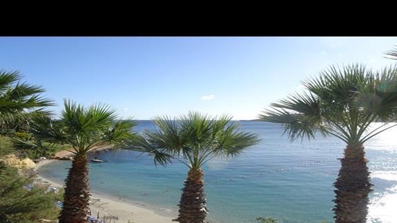 plaża zatoczkowa przy hotelu Mellieha Bay
