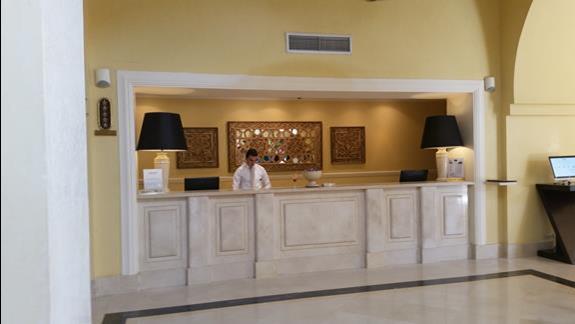 recepcja   w hotelu Jaz Lamaya Resort