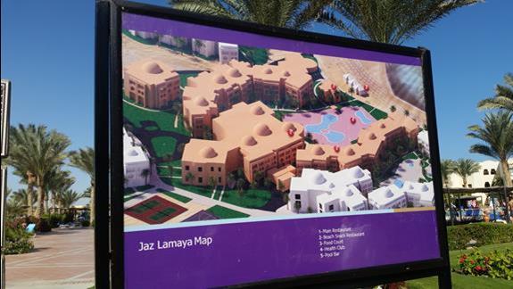 mapa hotelu Jaz Lamaya Resort