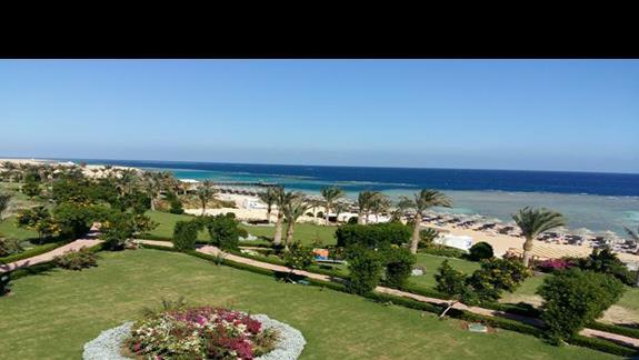 widok z pokoju hotelu Fantazia Resort