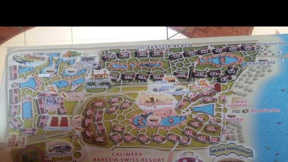 mapa hotelu Calimera Club Akassia Swiss Resort
