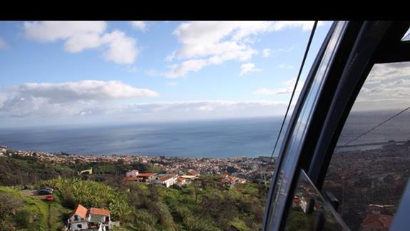 Funchal widok z kolejki linowej