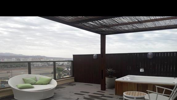 Widok z hotelowego tarasu
