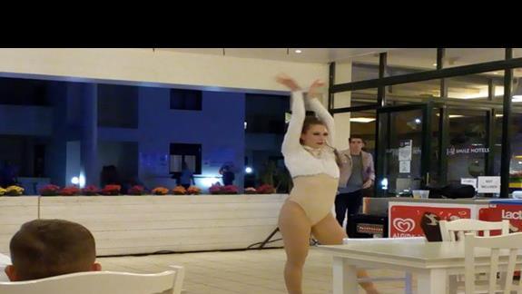 Tancerka podczas animacji